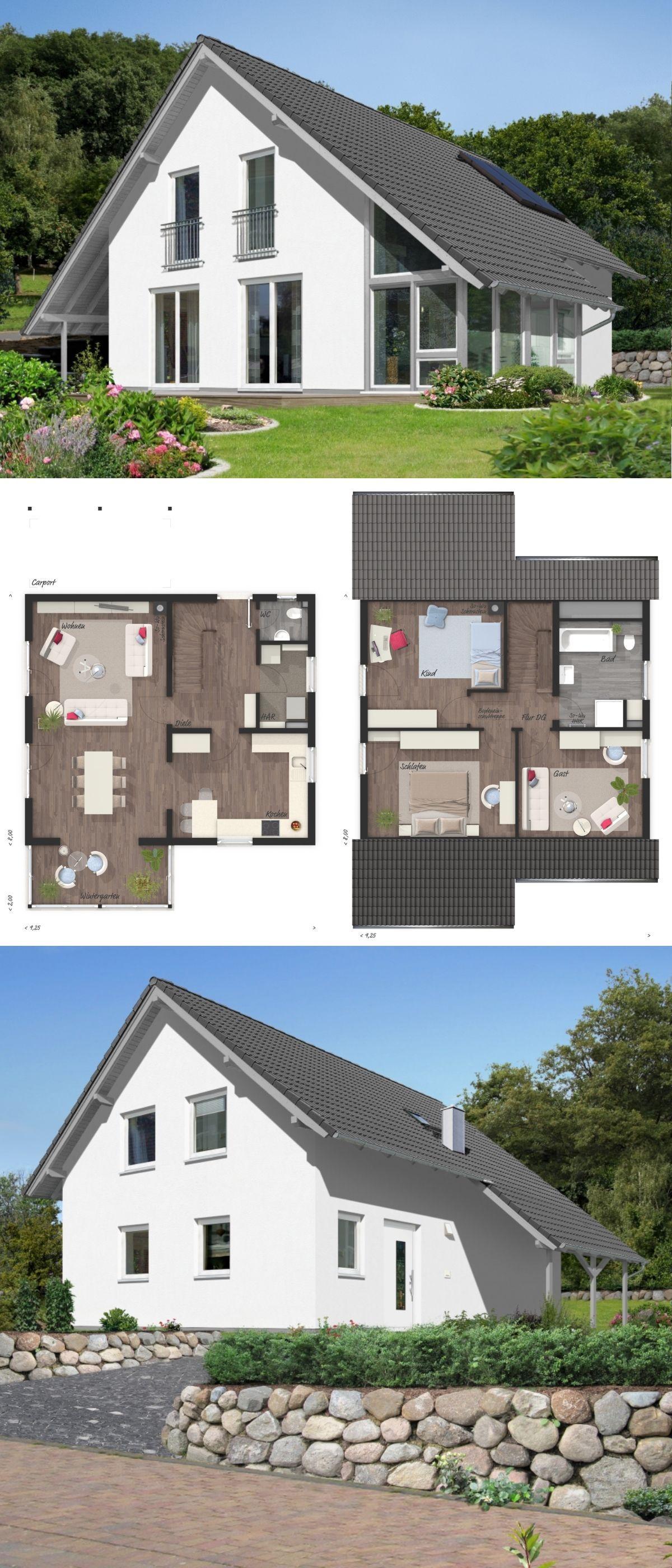 Modernes Massivhaus Schlusselfertig Grundriss Mit 4 Zimmer