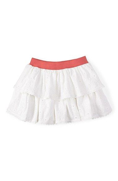 Toddler Girl's Mini Boden 'Broderie' Ruffled Cotton Eyelet Skort