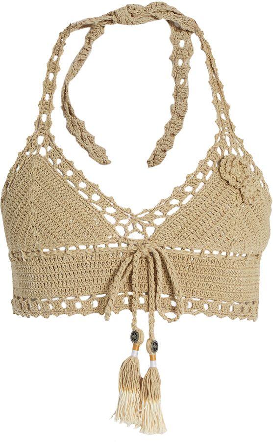 Jannah skirted crochet bikini top | 11.Crochet tank tops | Pinterest ...