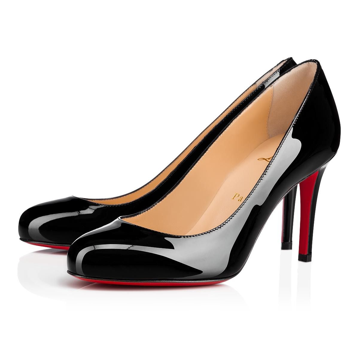 63ccc0fc93ff Fifille Patent 85 Black Patent Calfskin - Women Shoes - Christian ...