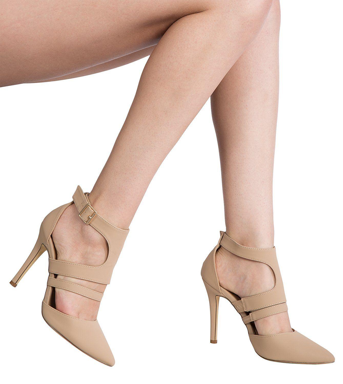 fce638dd5d88a Amazon.com   OLIVIA K Women's Ankle Strap Pointy Toe D'Orsay ...