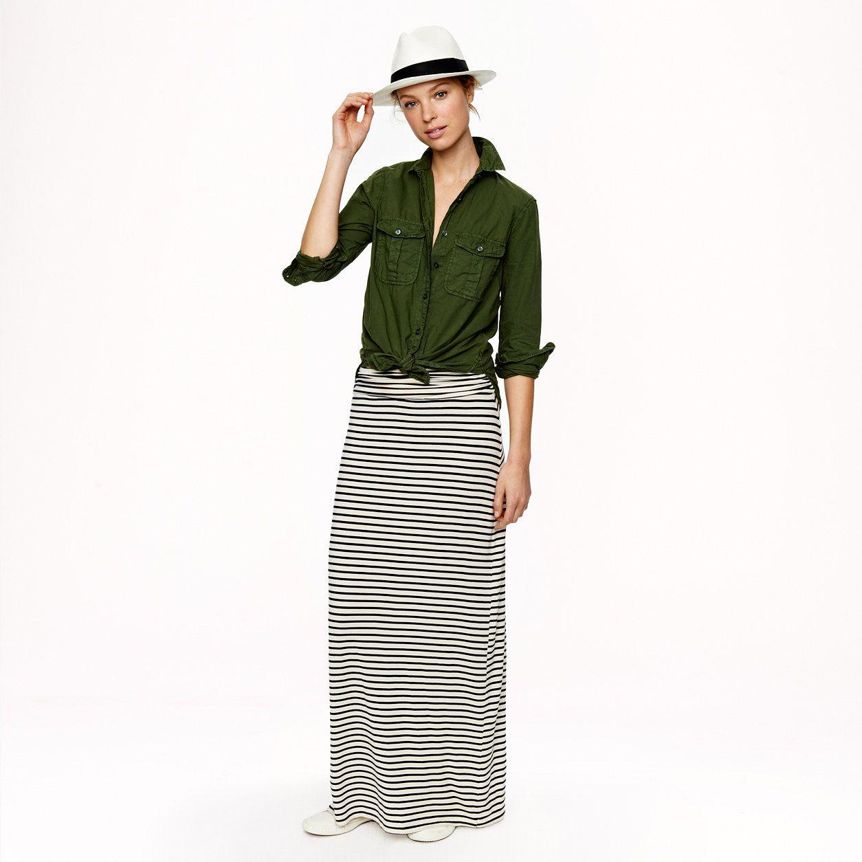 f5c6b141eb Maxiskirt in stripe : Maxi | J.Crew | Wardrobe Essentials | Jersey ...