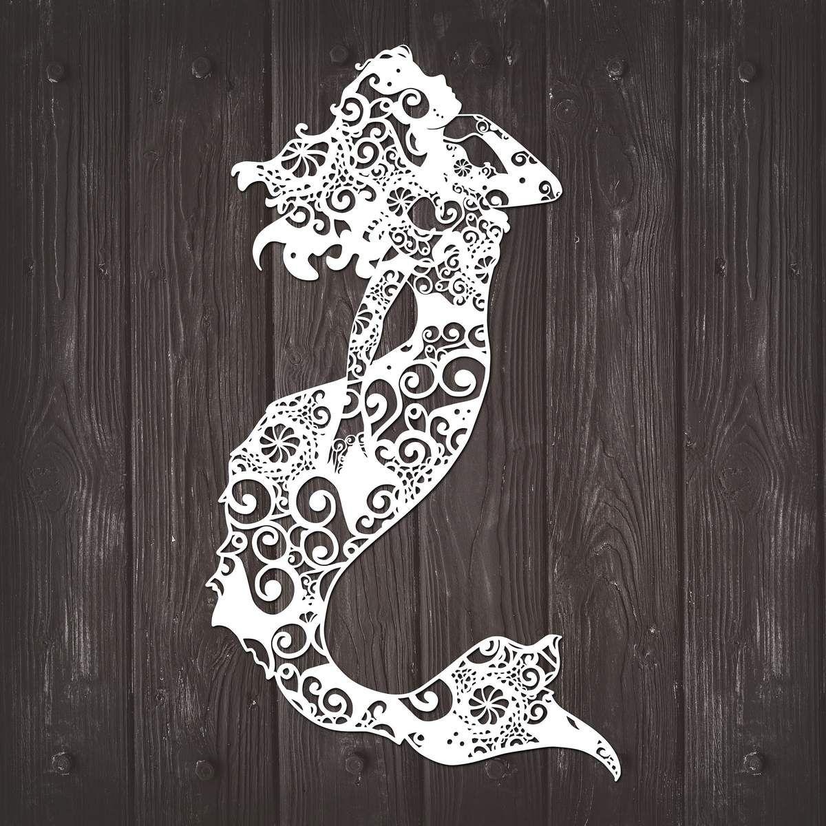 Mermaid Mandala Mandala svg