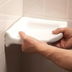 How To Install A Corner Shower Shelf Shower Shelves Shower