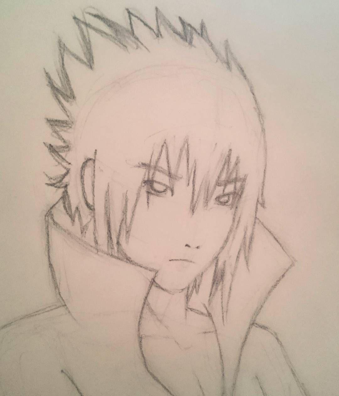 Drawing Sasuke Time For Lining It Up Naruto Anime