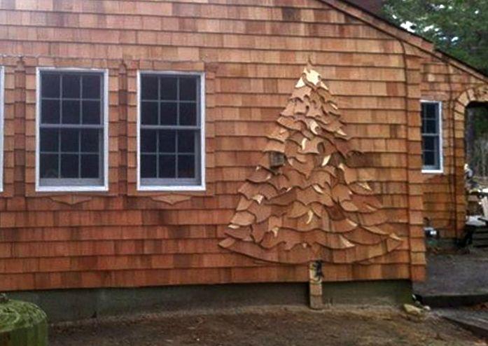 Tree Shingle Art By Beach House Carpenter