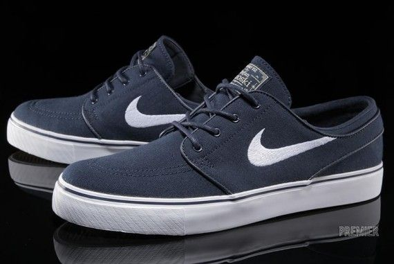 Nike SB Zoom Stefan Janoski Canvas - Obsidian - White - SneakerNews ... 5e3cc5c3885