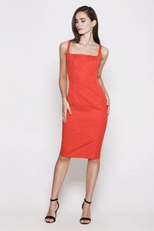 Платье футляр каре