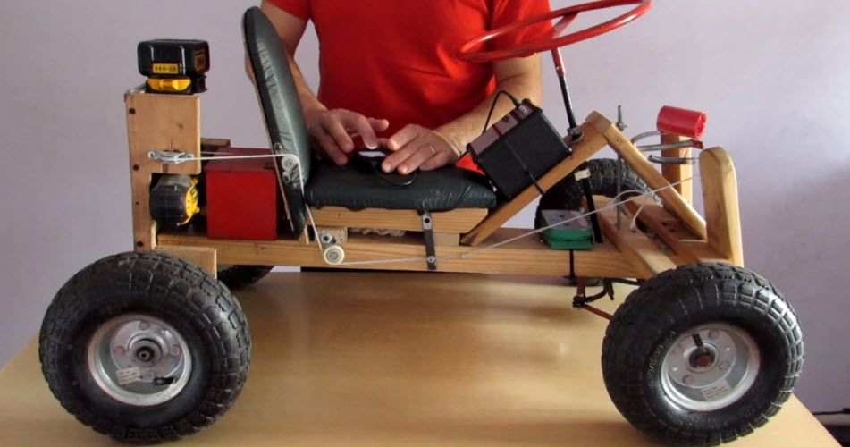 DIY Electric Go Kart Powered by Drill | go-cart | Electric go kart