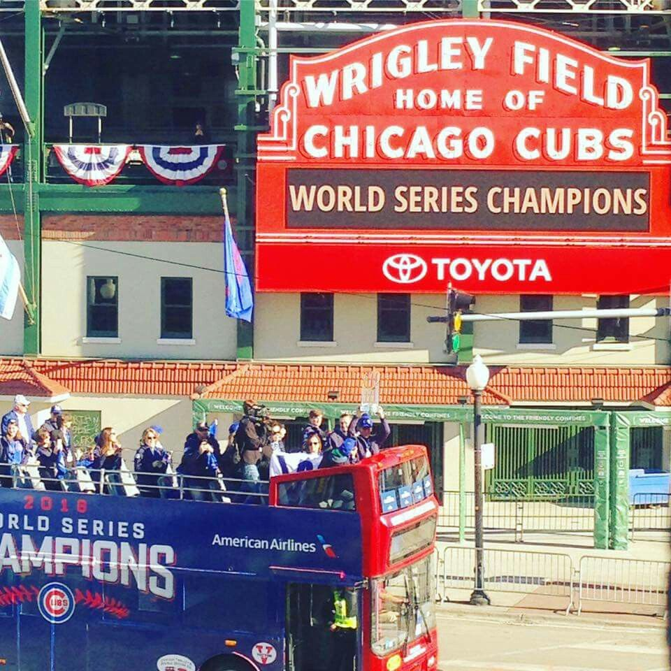 CHICAGO CUBS  WORLD CHAMPIONS MLB 메이저리그 - Chicago map showing wrigley field