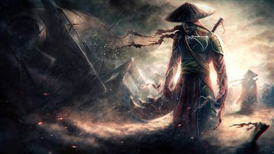 Samurai in the rain 1920x1080 HD Desktop Wallpaper
