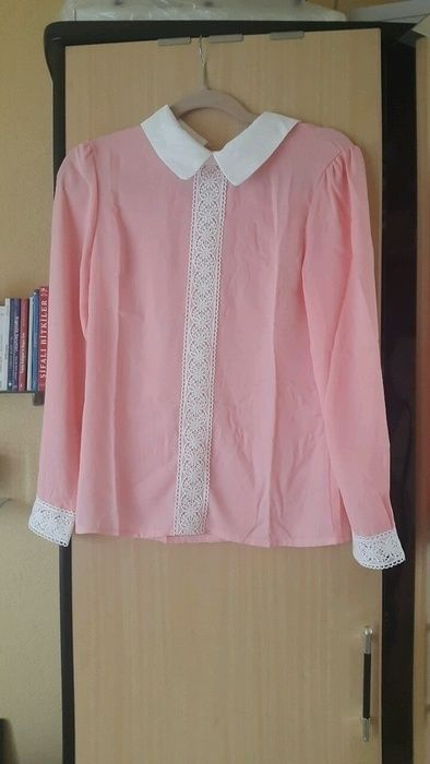 Rosa Spitzen Bluse Hemd Oberteil mango zara h
