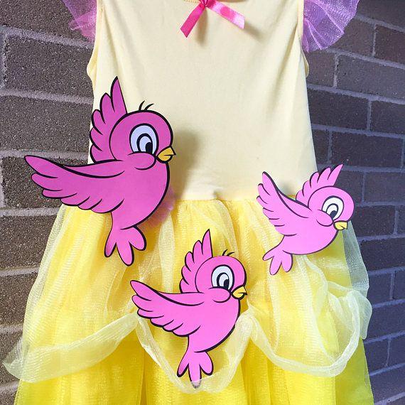Set of Disney Pink Birds Bird Princess Birthday Baby Shower ...