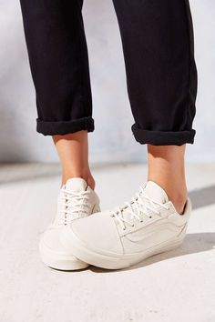 vans old skool white leather womens