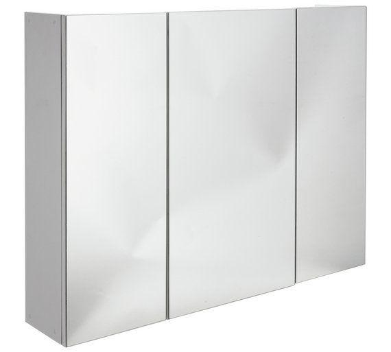 Buy Argos Home 3 Door Mirrored Cabinet White Bathroom Wall Cabinets Argos Mirror Cabinets Argos Home Bathroom Wall Cabinets