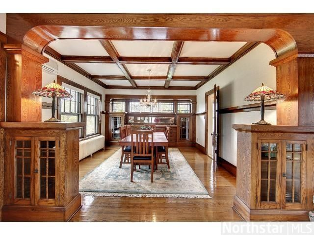 1910 Craftsman Chisago City Mn The Cabinets And Ceiling With
