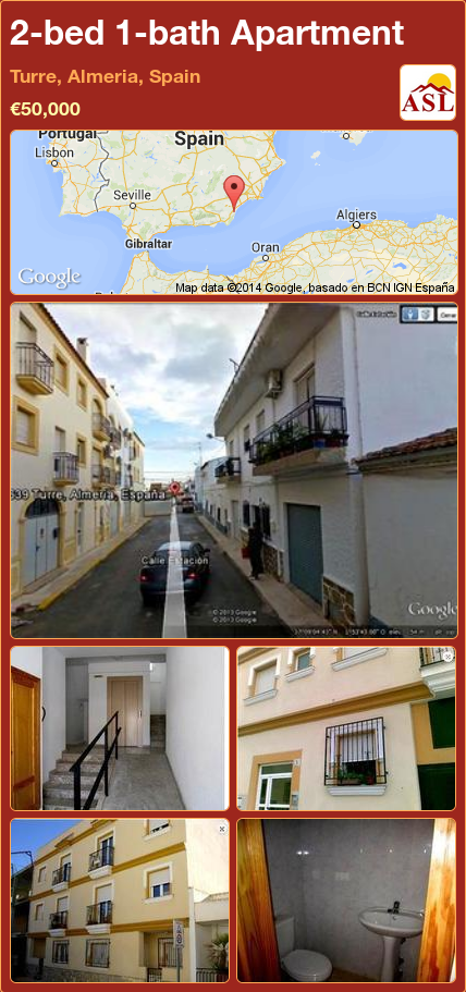 2 Bed 1 Bath Apartment In Turre Almeria Spain 50 000 Propertyforsaleinspain Almeria Espana Spain