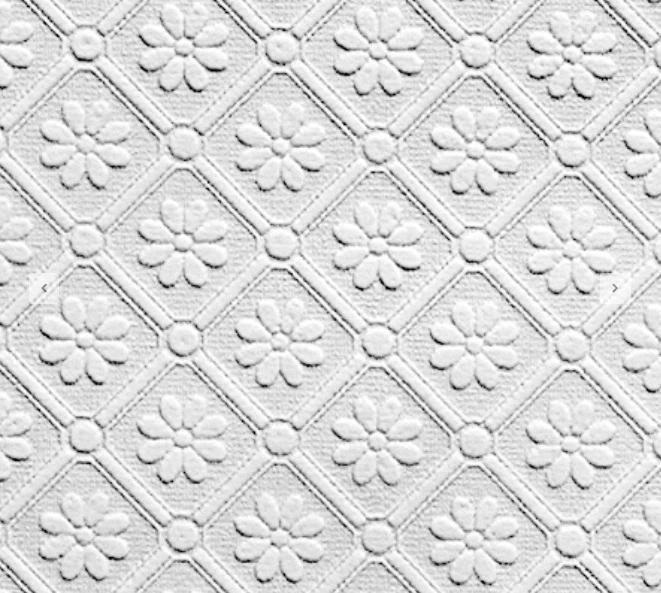 Amber Daisy Anaglypta Wallpaper Papier Peint Tissus Plafond
