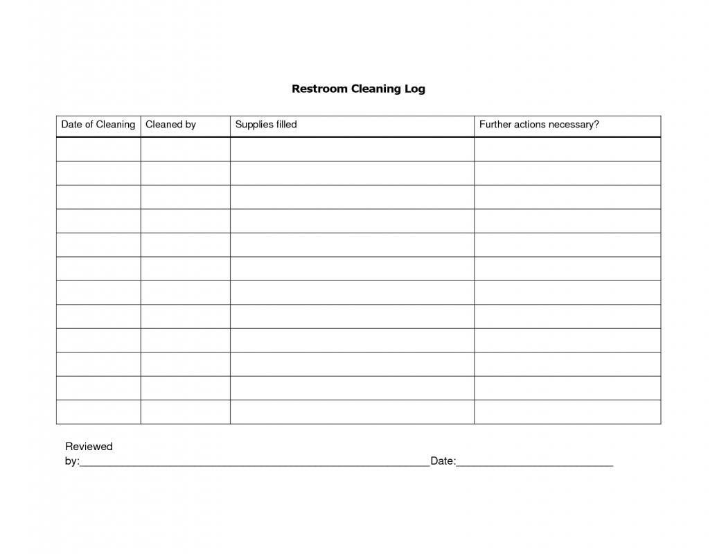 Restroom Cleaning Log Bathroom Cleaning Cleaning Schedule Printable Bathroom Printables