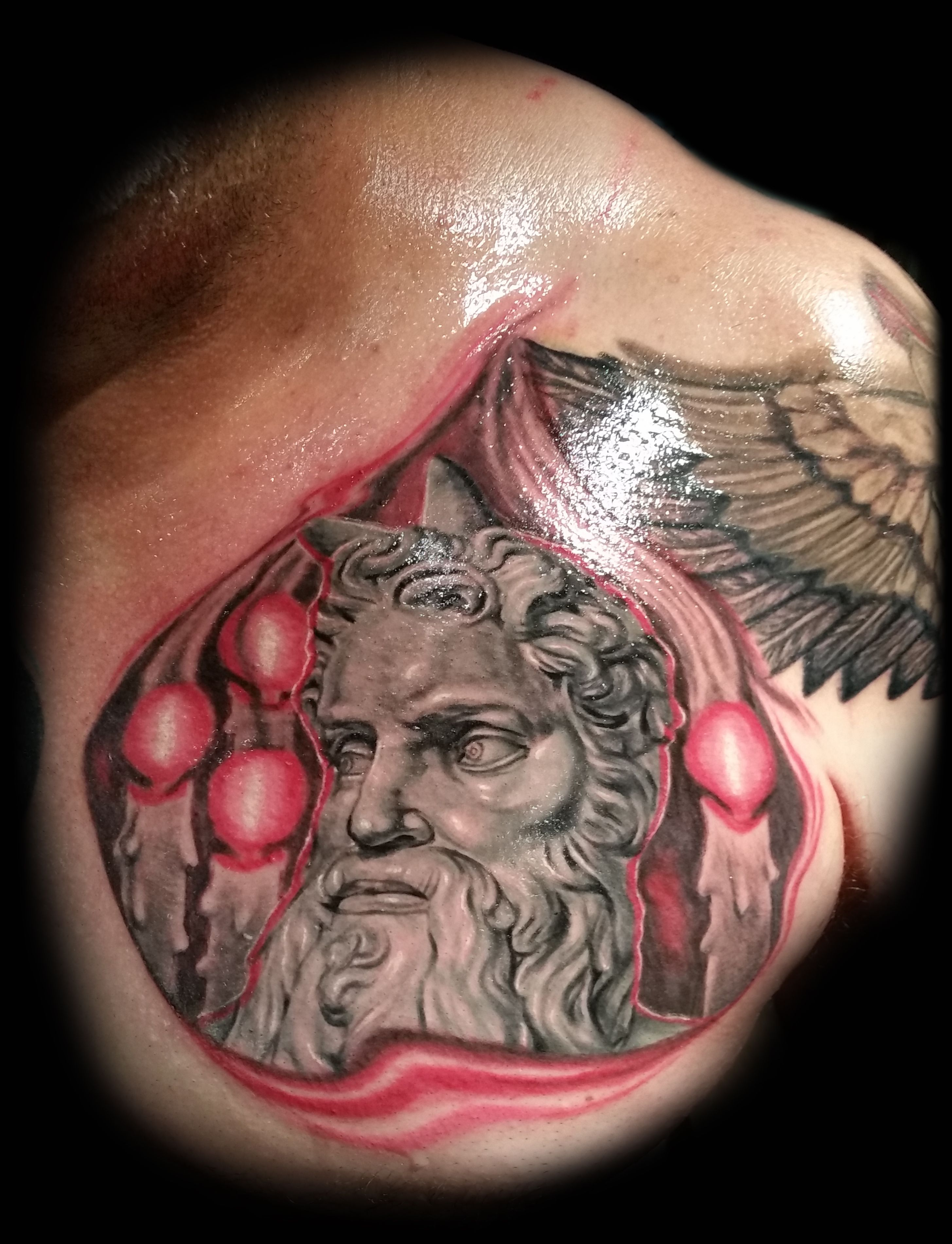 Michelangelo's Moses sculpture, 3d tattoo done by Brian Martinez ...