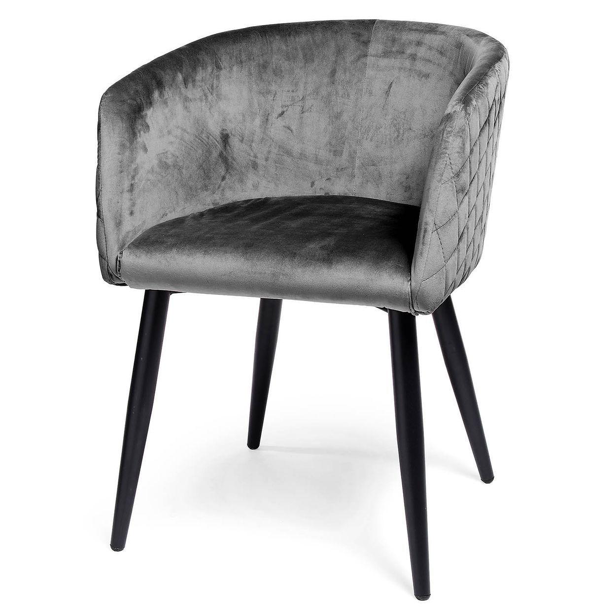 Samtstuhl 55x76x57cm Grau Stuhle Sitzplatz Und Zuhause
