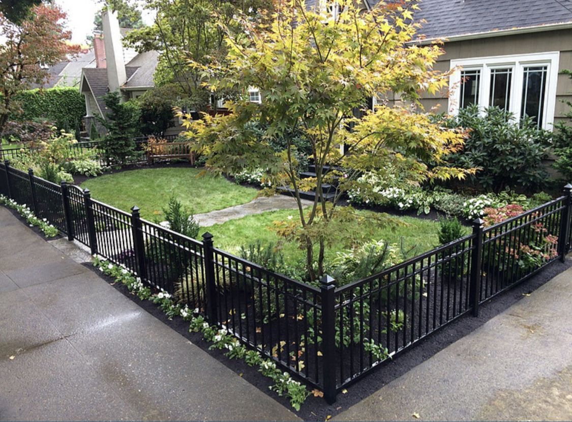 12 Indescribable Garden Fence U Post Ideas In 2020 Front Yard Fence Fence Design Backyard Fences