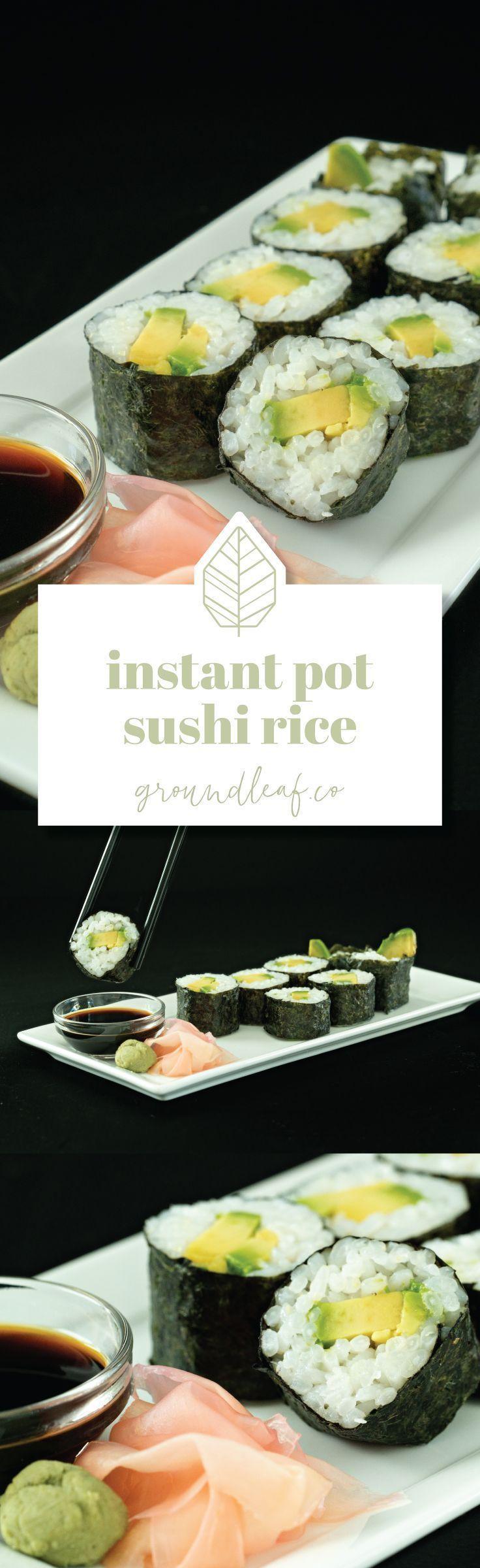 Instant Pot Sushi Rice Vegan Sushi rice, Instant pot