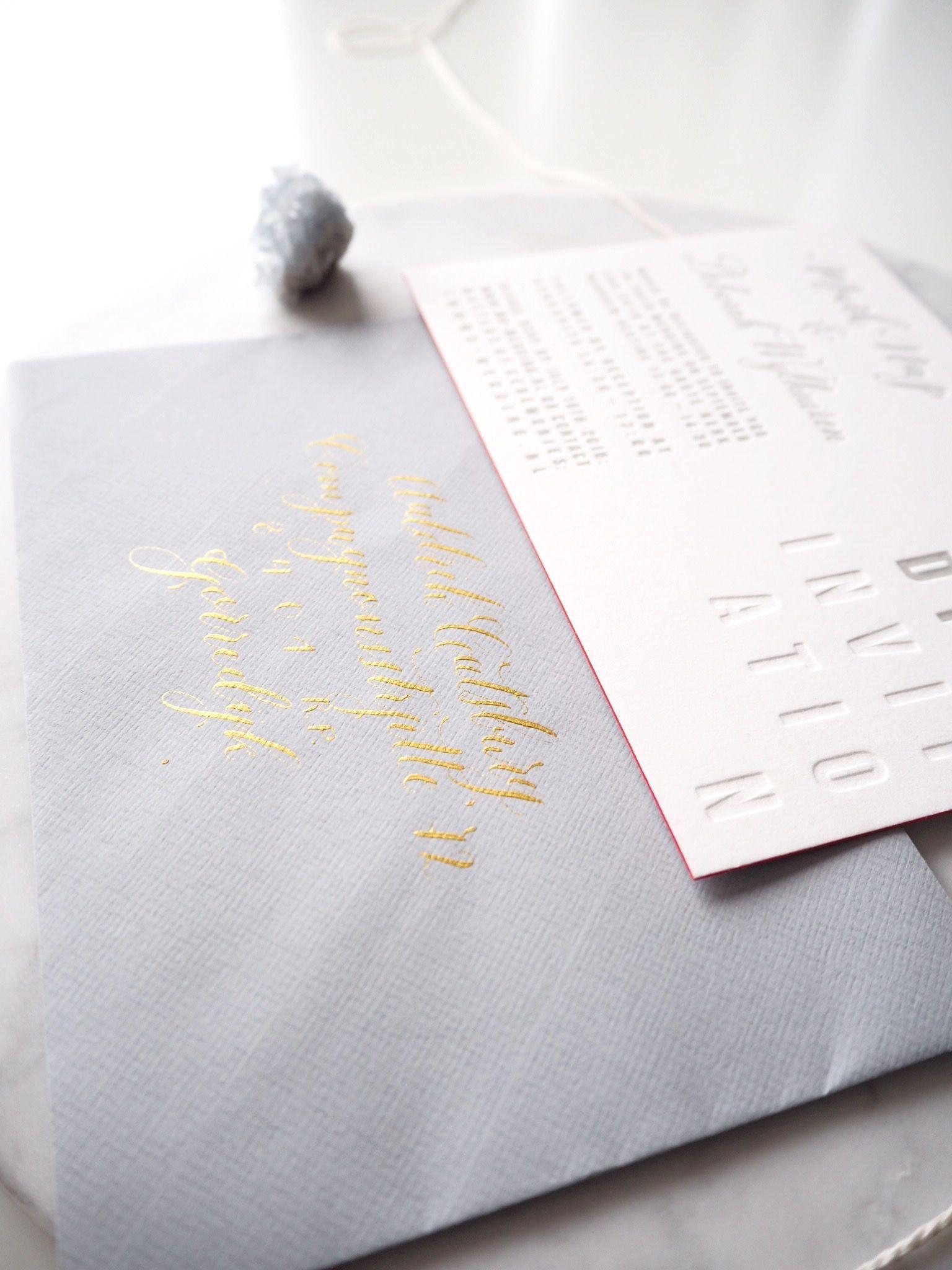 handwrite or print wedding invitation envelopes%0A mark  u     deborah   soft elegance   trouwkaart letterpress  u     moderne  kalligrafie   KIJKkalligrafie