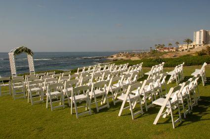 Wedding Ceremony Set Up At La Jolla Cove California Affordable