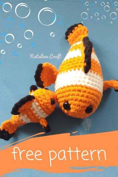 Crochet Fish Amigurumi: Clownfish - Free and quick pattern