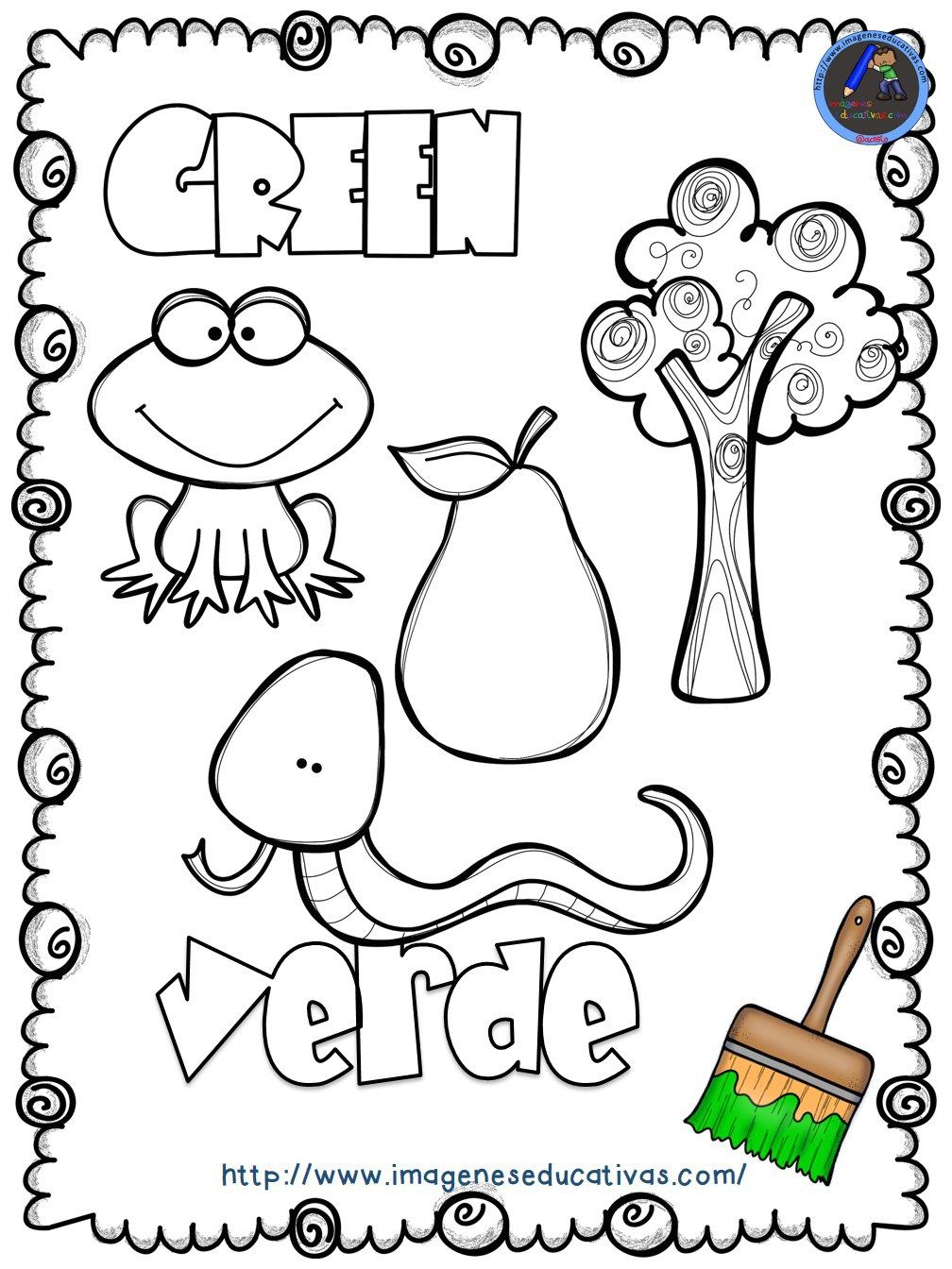 Mi Libro De Los Colores Para Colorear Edu For Kids Colores En