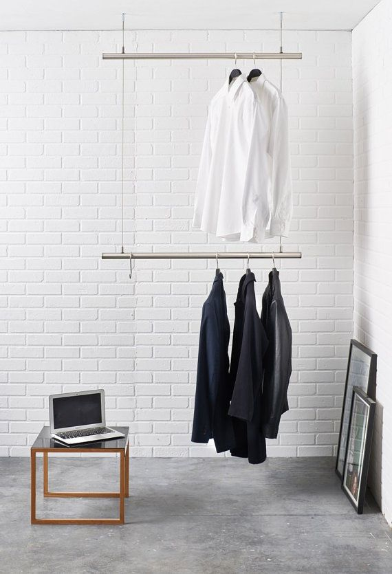 Hanging Clothes Rack Ceiling Mounted Design Clothes Rail