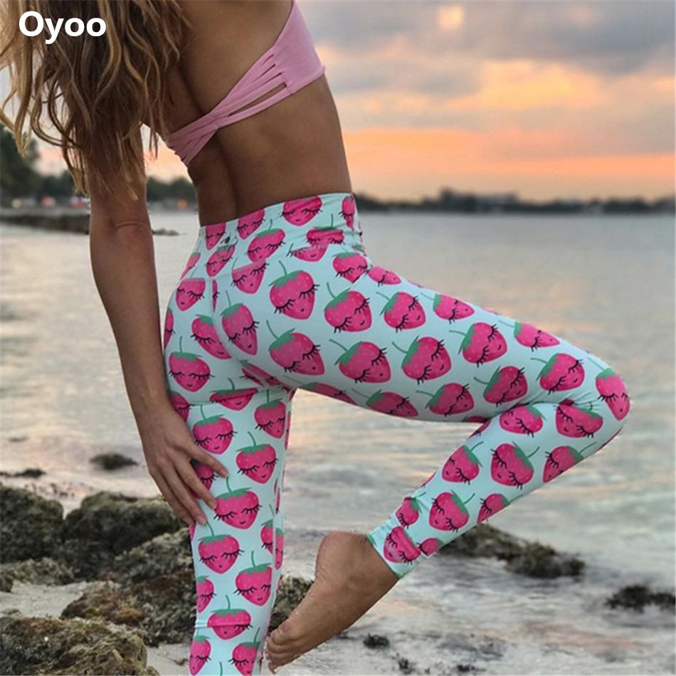 e38bf439303 Oyoo cute girls yoga pants fruit printed sport fitness leggings