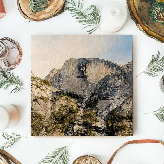 Half Dome Yosemite Wood Print - Yosemite Photo, Wooden Wall Art, Wood Photo Print, Yosemite Art, National Park Ark, Wood Art Print