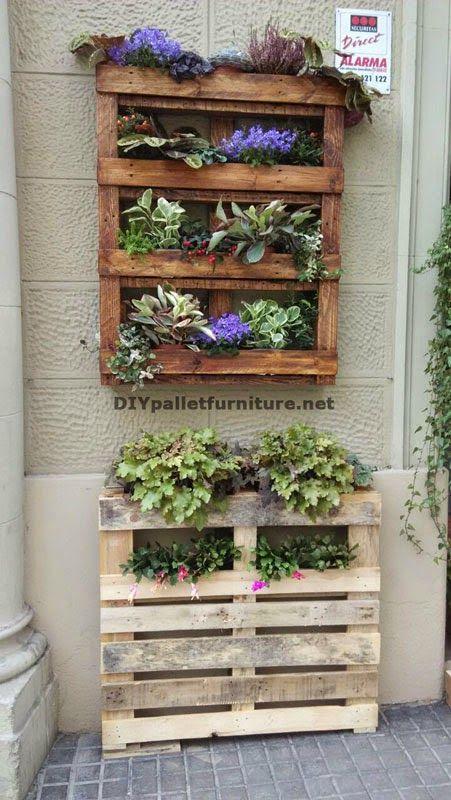Muebles de palets decoraci n urbana con jardineras de for Decoracion con palets