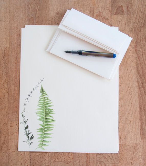 Letter Writing Paper Set - Fern and Stalk - Eco Friendly