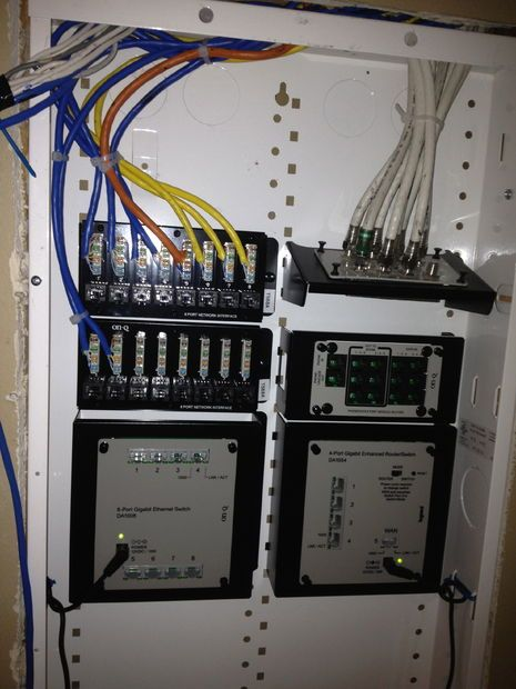 how to install a structured wiring enclosure automate pinterest rh pinterest com