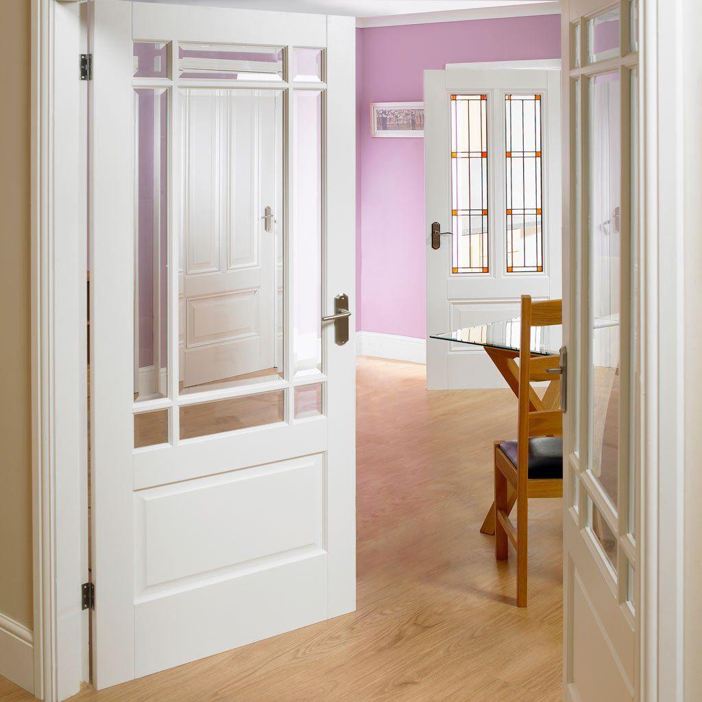 Downham white primed door pair with bevelled clear safety glass downham white primed door pair with bevelled clear safety glass white interior doorswhite planetlyrics Images