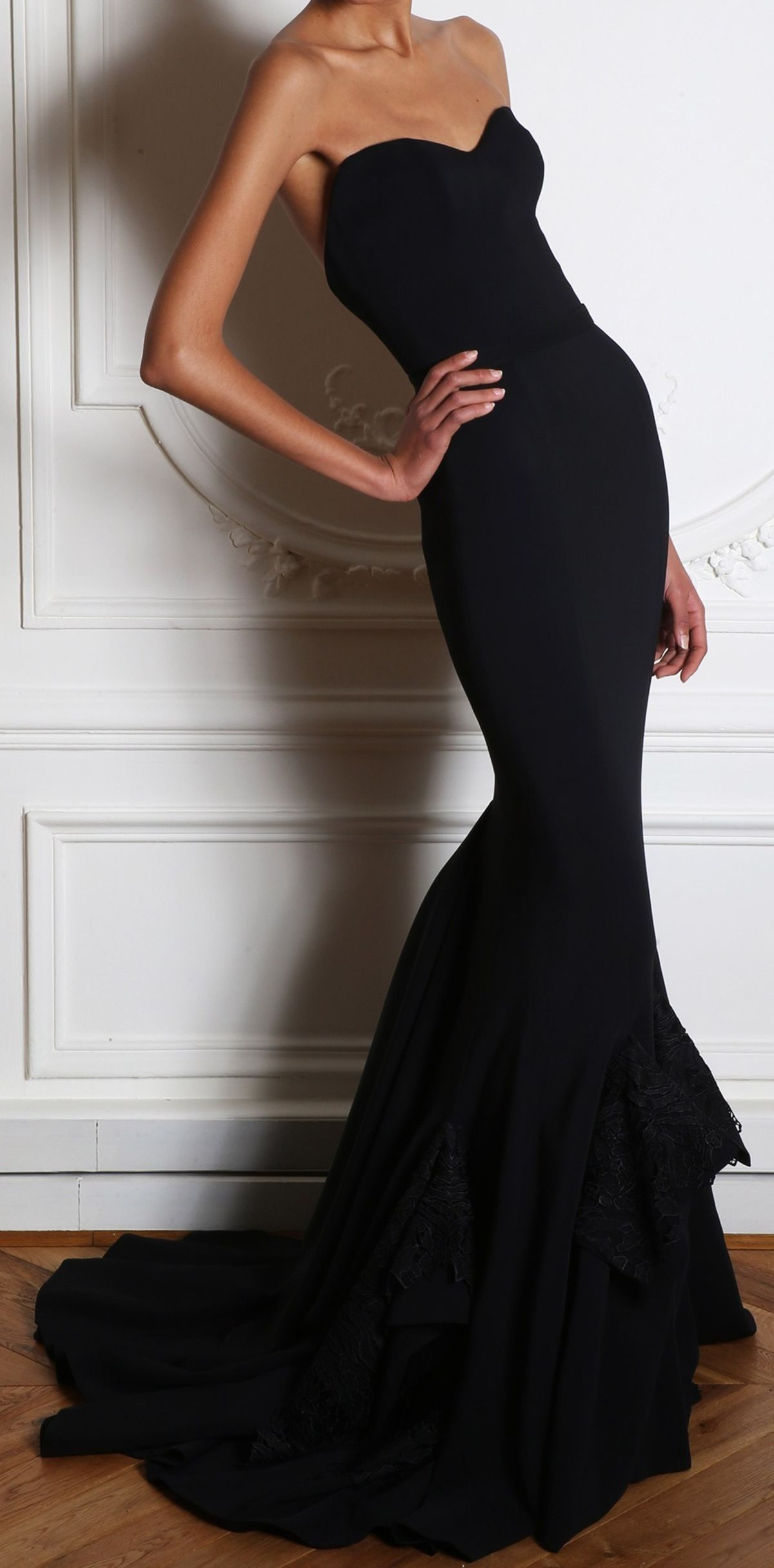 Oh so sharp and glamorous possible wedding dress silhouette