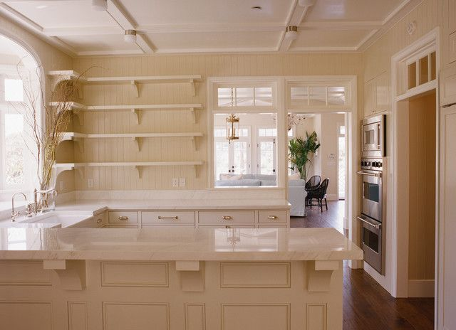 Stupendous Monochromatic Kitchen With Tan Kitchen Cabinets Off White Download Free Architecture Designs Embacsunscenecom