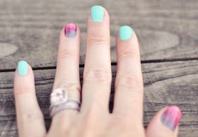 Brushed Ombre Accent Nail Tutorial...