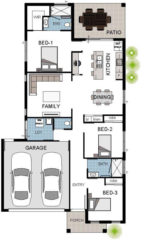 Dakota 1 House Floorplan Design Download Brochure Property Features 3 Bedrooms 2 Bathroom Cottage Floor Plans Narrow House Plans Home Design Floor Plans