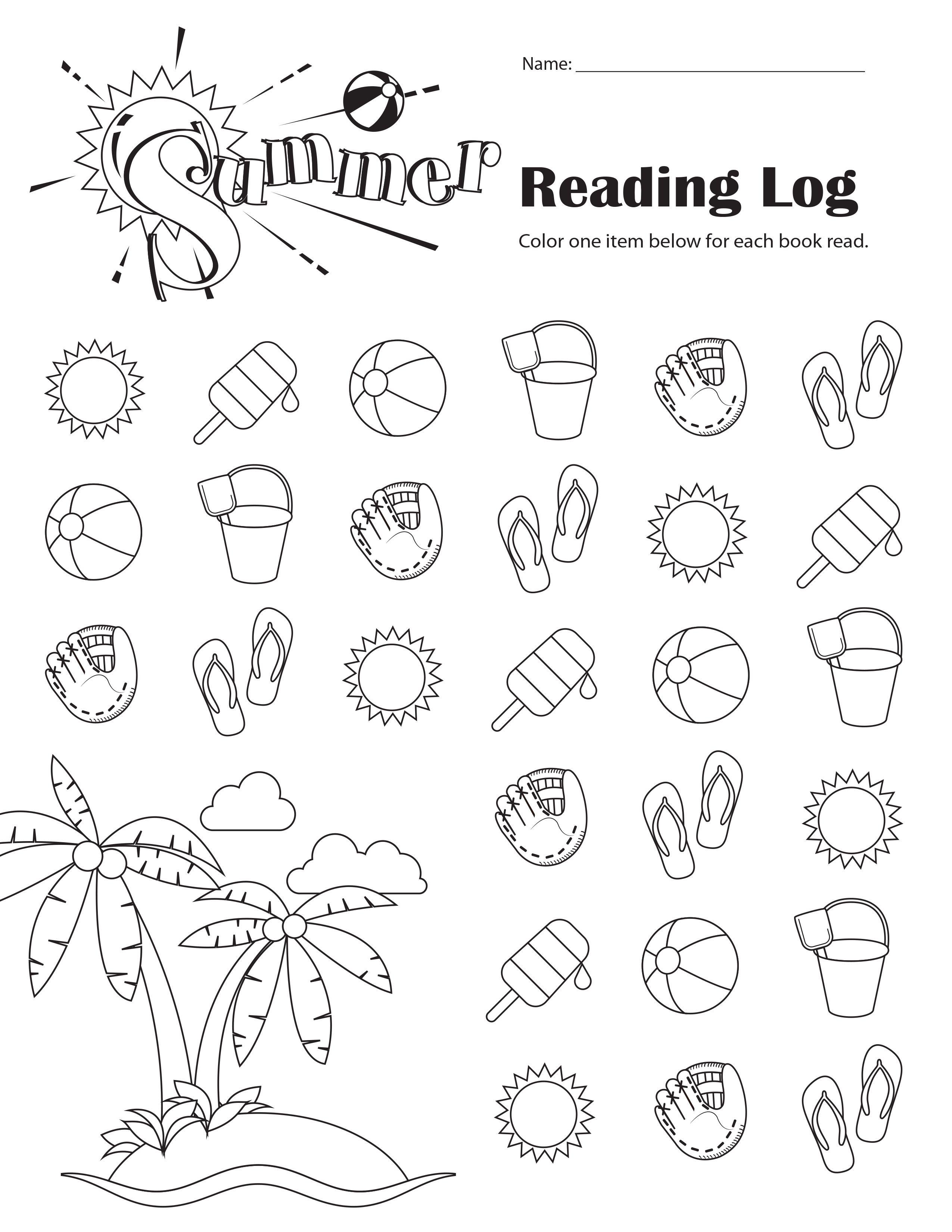 Free Printable Summer Reading Log For Grades K 6