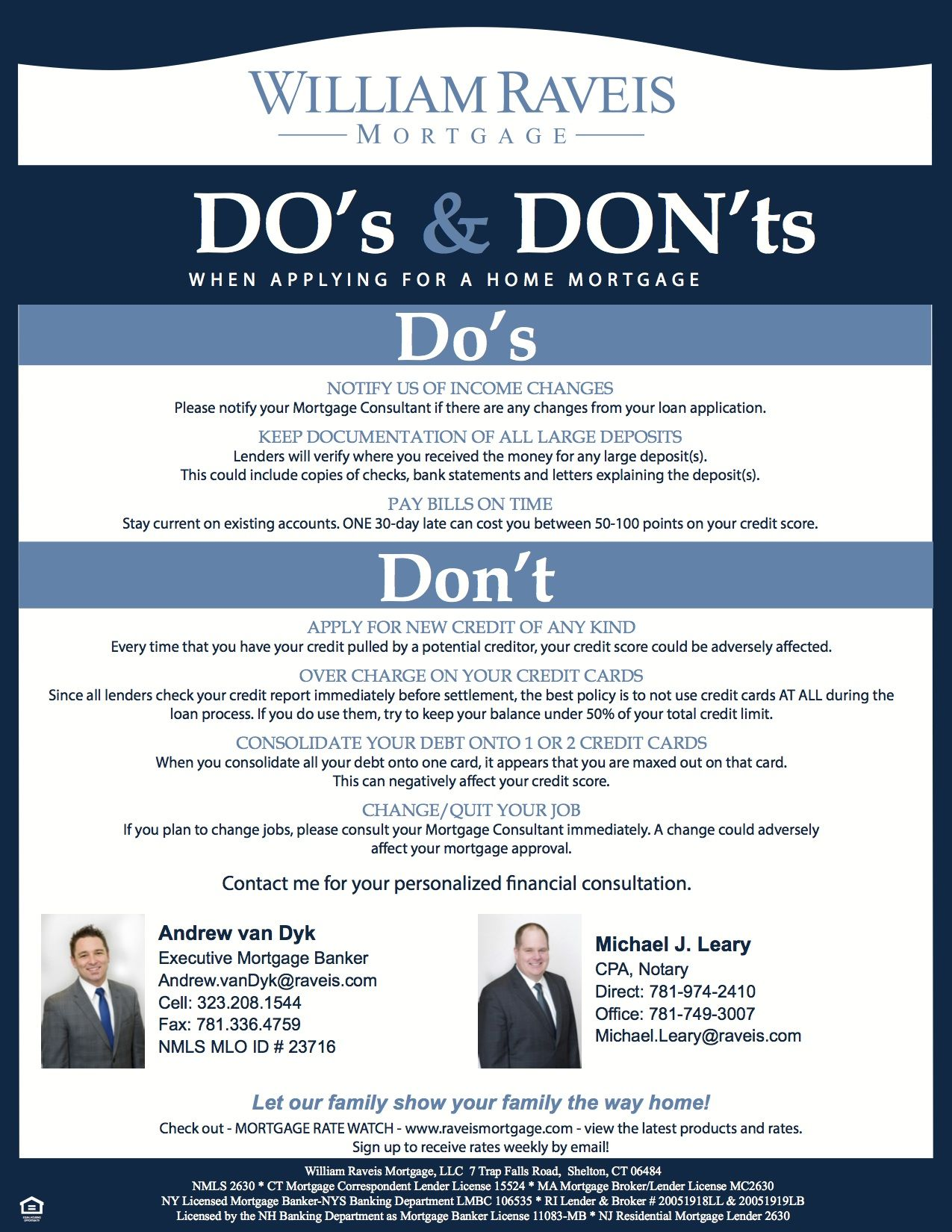 Dos and donts of mortgage application process loan