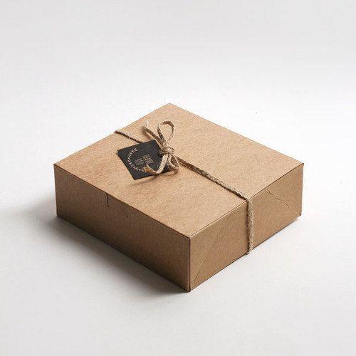 5 Rectangle Medium Kraft Boxes Kraft Gift Box Kraft Favor Box Gift