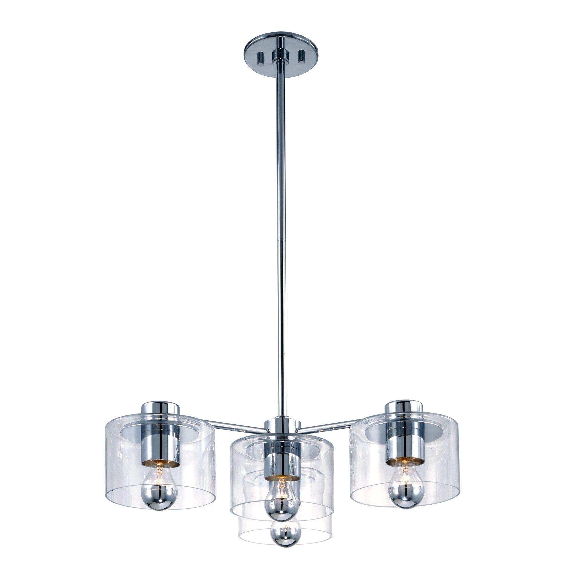 Sonneman Lighting Transparence 4-light Polished Chrome Pendant | Overstock.com Shopping - The Best Deals on Chandeliers & Pendants