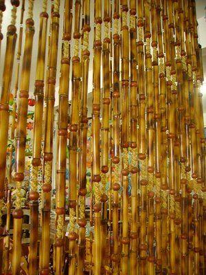 Cortinas de bambu cortinas pinterest artesanato em - Cortinas de bambu ...