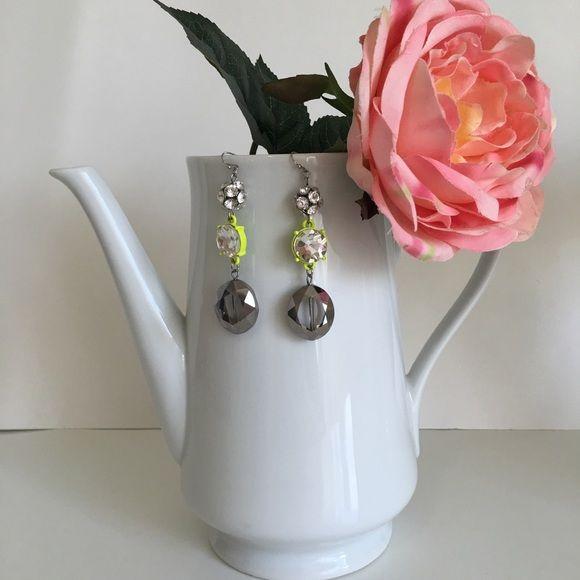 """ALDO teardrop CZ earrings. ALDO teardrop CZ earrings. About 3.25"""" tall. Beautiful design. Like new!  Bundling discount available!  ALDO Jewelry Earrings"""