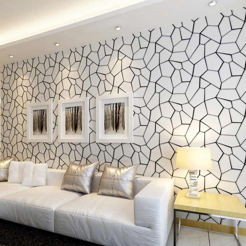 Nordic Style Wallpaper Ins Tv Background Black And White Checker Geometry Bedroom Living Room Modern Minimalist Net Wallpaper In 2020