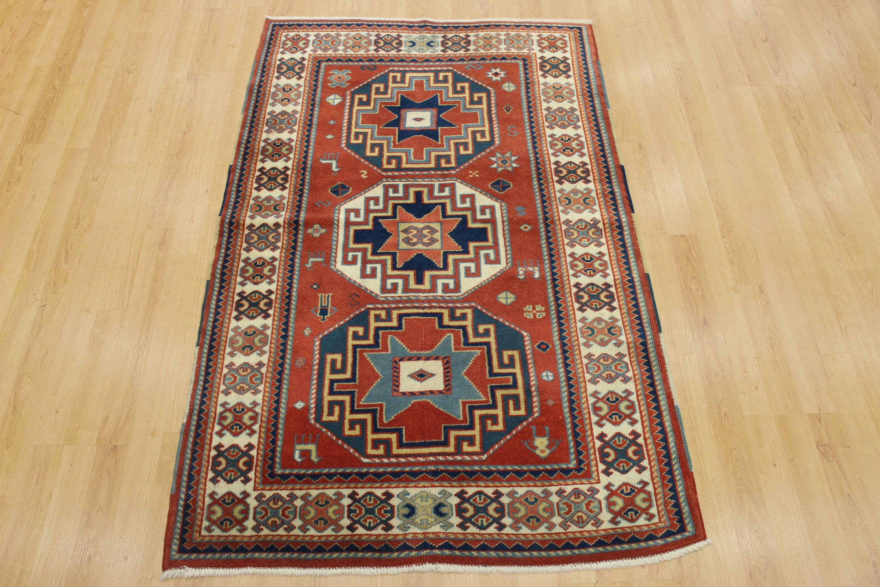 Excited To Share This Item From My Etsy Shop Vintage Carpet Red Blue Area Rug 3 X5 90x150 Cm Oriental Moroccan Style Rug Wool And Cotton Traditional Distre